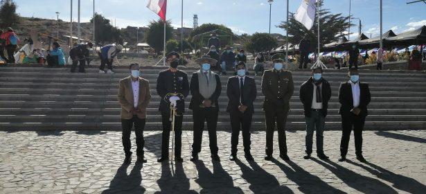 CON CEREMONIA CIVICO MILITAR PUTRE CELEBRA LAS FIESTAS PATRIAS